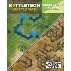 BattleTech: Battle Mat Grasslands Savanna